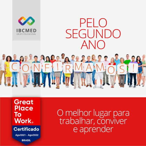 O IBCMED é certificado pelo segundo ano consecutivono Great Place To Work